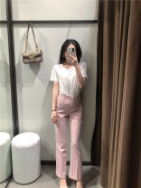 Casual pants Plaid trousers XS,S,M,L Spring 2020 51% (inclusive) - 70% (inclusive) other