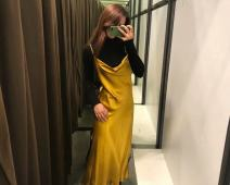 Dress Autumn of 2018 yellow S,M,L singleton  51% (inclusive) - 70% (inclusive) other