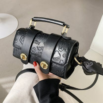Travel bag PU nothing Small no leisure time Single root European and American fashion polyester fiber Soft handle Solid color youth inside pocket with a zipper soft surface