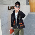 Plain coat Baby & HH / baby Hengheng male 100cm 110cm 120cm 130cm 140cm 150cm 160cm black spring and autumn Korean version Zipper shirt There are models in the real shooting routine No detachable cap Cartoon animation cotton V-neck K201WT542-1 Cotton 60.6% polyester 30.4% others 9% Class C