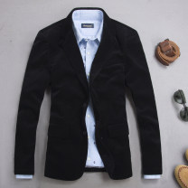 man 's suit black NEW YOUNG Business gentleman thick M,L,XL,2XL,3XL,4XL Corduroy suit Cotton 100% Self cultivation Two double breasted go to work Double slit youth Long sleeves autumn routine Business Casual Casual clothes Flat lapel pure cotton 2017 Three dimensional bag