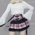 skirt Winter of 2018 S (spot), m (spot), l (spot) [half skirt with coil buckle and ribbon] safety pants with pink lattice