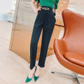 Casual pants black S,M,L,XL,2XL Summer 2021 Ninth pants Haren pants High waist commute routine 30-34 years old 31% (inclusive) - 50% (inclusive) K214020 MISS FLY PERSONAL TAILOR other Korean version zipper