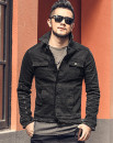 Jacket Other / other Youth fashion Black cowboy S,M,L,XL,2XL,XS routine Self cultivation Other leisure autumn Lapel Simplicity in Europe and America youth Single breasted routine other