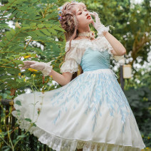 Dress Summer of 2019 Pink, green, light blue, light brown, special clearance, no replenishment S,M,L Middle-skirt singleton  Sleeveless Sweet High waist Broken flowers Socket Princess Dress camisole 18-24 years old Type A Dorothy the great 91% (inclusive) - 95% (inclusive) Chiffon polyester fiber