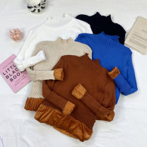 Wool knitwear Winter 2020 Average size Khaki, blue, white, black Long sleeves singleton  Socket Viscose 51% (inclusive) - 70% (inclusive) Regular routine commute Self cultivation High collar routine Solid color Socket 18-24 years old thread