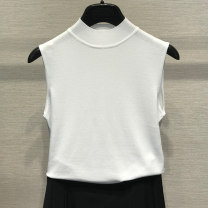 T-shirt Black, white, red S,M,L,XL,2XL Spring 2021 Sleeveless Half high collar Self cultivation Regular routine commute Viscose 71% (inclusive) - 85% (inclusive) 25-29 years old Simplicity classic Solid color Pinge Dixin 5006-700931-6059435
