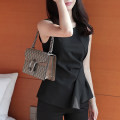 Lace / Chiffon Spring 2021 Black, white S,M,L,XL Sleeveless commute Socket singleton  Self cultivation Regular Crew neck Solid color routine 25-29 years old Korean version 81% (inclusive) - 90% (inclusive) nylon