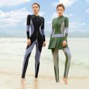 Diving suit Haiyun star female 101-200 yuan Green, black M,XL,4XL,2XL,3XL diving China Winter 2021 nylon Conjoined
