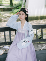 Hanfu 91% (inclusive) - 95% (inclusive) Spring 2021 Delivery within 3 days after the chest set is photographed, delivery within 3 days after the big sleeve is photographed, and the embroidery of the big sleeve sample clothes is subject to the tile drawing. The chest set can be photographed separately