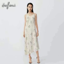 Dress Winter 2020 Picture color S,M,L singleton  Sleeveless commute V-neck Solid color Socket routine 18-24 years old thread 71% (inclusive) - 80% (inclusive)