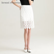 skirt Spring 2021 160XS 165S 170M 175L Ivory Mid length dress Sweet High waist A-line skirt Solid color Type A 25-29 years old 1SB0BNBSKTW166112 More than 95% Lace bread n butter polyester fiber Lace Polyester 100% Same model in shopping mall (sold online and offline) Ruili