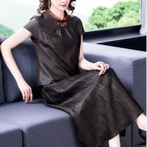 Fashion suit Summer 2021 L XL 2XL 3XL 4XL Top and pants top and skirt Over 35 years old Diebaolian 8835-1 Other 100% Pure e-commerce (online only)