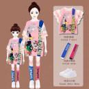 Parent child fashion White skirt, pink skirt, white skirt + one size socks, pink skirt + one size socks Women's dress female Other / other 100cm, 110cm, 120cm, 130cm, 140cm, 150cm, 160cm, 170cm, mother size 160 (suitable for height below 160), mother size 170 (suitable for height between 160-170)