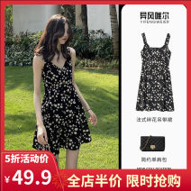 Women's large Summer 2021 Dress skirt S M L XL 2XL 3XL 4XL Dress singleton  Sweet easy moderate Socket Sleeveless Broken flowers 3-26CS0266+CS0267 Yifengweier 18-24 years old Short skirt Polyester 100% Pure e-commerce (online only) solar system