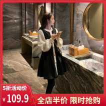 Women's large Winter 2020 Picture color S M L XL 2XL 3XL 4XL Dress singleton  commute moderate Socket Long sleeves Solid color Korean version Crew neck routine 12-17CS0054 Yifengweier 18-24 years old Short skirt Polyester 50% viscose (viscose) 50% Pure e-commerce (online only)