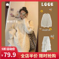Women's large Winter 2020 Sweater + skirt [suit] single sweater single skirt S M L XL 2XL 3XL 4XL Two piece set commute easy moderate Socket Long sleeves lattice Korean version Crew neck routine routine 12-8CT0010 Yifengweier 18-24 years old Medium length