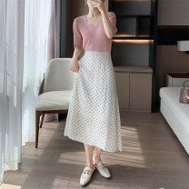 skirt Spring 2021 Average size Black, white Mid length dress commute High waist A-line skirt Solid color Type A 25-29 years old 31% (inclusive) - 50% (inclusive)