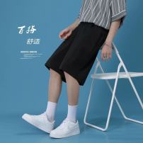 Casual pants Others Youth fashion black M,L,XL,2XL,3XL thin Pant Other leisure easy No bullet summer teenagers tide 2021 Medium low back Straight cylinder No iron treatment Solid color
