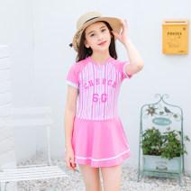 Children's swimsuit / pants JM mi M (height 90-110cm), l (height 120-130cm), XL (height 130-140cm) Red, pink Children's one piece swimsuit female nylon Children 9202