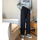 Casual pants black S (recommended 80-95 kg), m (recommended 95-105 kg), l (recommended 105-115 kg), XL (recommended 115-125 kg), 2XL (recommended 125-145 kg), 3XL (recommended 145-160 kg), 4XL (recommended 160-180 kg), 5XL (recommended 180-200 kg) Spring 2020 Ninth pants Wide leg pants High waist