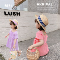 Dress Purple, pink female Other / other 80cm,90cm,100cm,110cm,120cm,130cm Cotton 95% other 5% summer lady Short sleeve Solid color cotton Straight skirt Class B 18 months, 2 years old, 3 years old, 4 years old, 5 years old, 6 years old Chinese Mainland Zhejiang Province Huzhou City