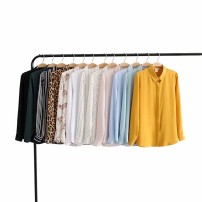 shirt White, black, yellow, dark green, pink, white vertical stripe, white dot, leopard print, yellow, light green, black stripe, light blue, monkey print 34,36,38,40,42 other 96% and above Long sleeves Single row multi button