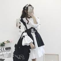 Cosplay women's wear suit goods in stock Over 14 years old White skirt, white stockings, black stockings, headdress + white skirt + apron + collar, need XXXXL to contact customer service Animation, original S,M,L,XL,XXL,XXXL other Chinese Mainland Cute, Gothic, maid, Lolita Women's wear boss