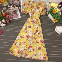 Dress Autumn 2020 Decor 1, decor 2, decor 3, decor 4, decor 5, decor 6, decor 7, decor 8, decor 9, decor 10 Average size Mid length dress singleton  Short sleeve commute V-neck High waist Decor Socket A-line skirt routine Type A Stitching, zipper, printing 81% (inclusive) - 90% (inclusive) other