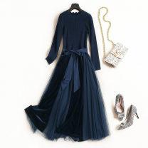 Dress Autumn 2020 dark blue S,M,L,XL,XXL