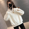 Sweater / sweater Spring 2021 Pink orange off white light navy blue S M L XL Long sleeves routine Socket singleton  routine Crew neck easy commute routine letter 96% and above vee fly Korean version other VE15732HTY11275806 Stitching embroidery thread Other 100%