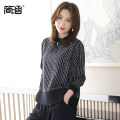 Women's large Spring 2021 T-shirt singleton  commute easy moderate Socket Long sleeves stripe Korean version routine Polyester others Three dimensional cutting routine Simple implication 40-49 years old Silk 65% new polyester 35% Pure e-commerce (online only)