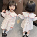 Dress gules female Other / other Size 90 (height 78-87cm, age 1-2), size 100 (height 88-97cm, age 2-3), Size 110 (height 98-107cm, age 3-4), Size 120 (height 108-117cm, age 4-5), Size 130 (height 118-130cm, age 5-6) Other 100% spring and autumn princess Long sleeves Solid color cotton Lotus leaf edge