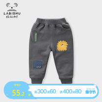 trousers Rabbi tree male 80cm 90cm 100cm 110cm 120cm 130cm 140cm spring and autumn trousers leisure time No model Casual pants Leather belt middle-waisted Pure cotton (100% content) Open crotch Cotton 100% other Spring 2020 Chinese Mainland Zhejiang Province Hangzhou