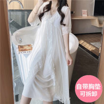 Nightdress Other / other 7130 white (with bra), 7130 Pink (with bra), 77012 white (with bra), 77012 Pink (with bra), 517 white (with bra), 517 shrimp (with bra), esy-125 white (without BRA), esy-125 Pink (without BRA) 160 (m), 165 (L), 170 (XL), collection baby + small gift from store Sweet pajamas