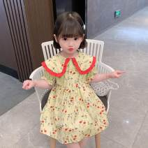 Dress Yellow, red female Other / other 90cm,100cm,110cm,120cm,130cm Other 100% summer princess other cotton Cake skirt 12 months, 18 months, 2 years, 3 years, 4 years, 5 years, 6 years, 7 years, 6 months, 9 months