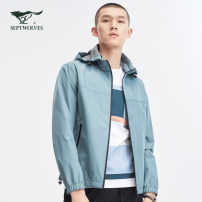 Jacket Septwolves Business gentleman 701 (Khaki), 001 (black), 211 (greyish green) 190/104A/XXXXL,185/100A/XXXL,180/96A/XXL,165/84A/M,170/88A/L,175/92A/XL routine standard Other leisure spring 1D1B10101754 Polyester 100% Long sleeves Wear out Detachable cap Basic public youth routine Zipper placket