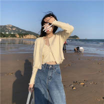 short coat Spring 2021 S,M,L,XL,2XL Apricot two-piece sets focus on store priority delivery Two piece set Self cultivation bow