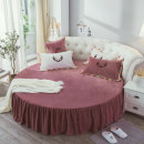 Bed skirt Customized 1.8m diameter (not support return and replacement), 2m diameter circle, customized 2.1m diameter (not support return and replacement), 2m diameter circle Others Manjin Solid color Qualified products MJCQQ
