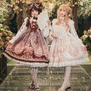 Dress Winter 2020 Four regiments of pink (jsk suspender skirt + shirt), four regiments of red (jsk suspender skirt + shirt), four regiments of pink (jsk suspender skirt + shirt + headdress), four regiments of red (jsk suspender skirt + shirt + headdress) S,M,L Two piece set Sweet Original Lolita