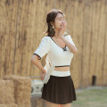 Split swimsuit Si Manqi black and white XL,L,M Skirt split swimsuit With chest pad without steel support other S501 female
