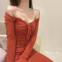Dress Autumn of 2019 White orange S, M