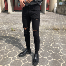 Jeans Youth fashion Others S 28-29,L 32-33,XL 34,M 30-31 black trousers Other leisure