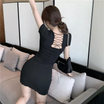 Dress Spring 2021 Black, pink Average size 18-24 years old 2162# 31% (inclusive) - 50% (inclusive)