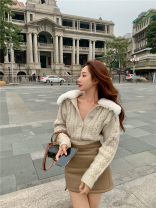 Fashion suit Winter 2020 S. M, average size Sweater, leather skirt 578