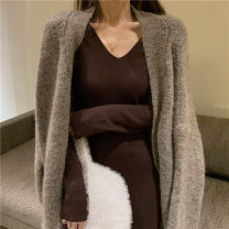 Dress Winter of 2019 Brown, black Average size Other / other