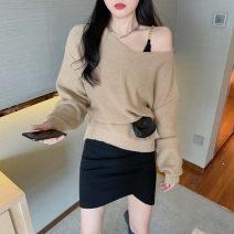 Fashion suit Autumn 2020 Average size Khaki sweater 9528, metal Sling Dress 9529 18-25 years old 31% (inclusive) - 50% (inclusive) cotton