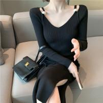 Dress Winter 2020 black Average size 18-24 years old 2376#