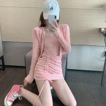 Fashion suit Spring 2021 S, M 5880 cardigan, 5881 suspender skirt 5880#5881#