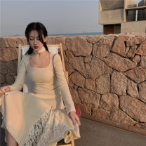 Dress Winter 2020 Skirt, coat Average size longuette Two piece set Long sleeves commute other Solid color zipper other other Others 18-24 years old Type A Korean version 51% (inclusive) - 70% (inclusive) other